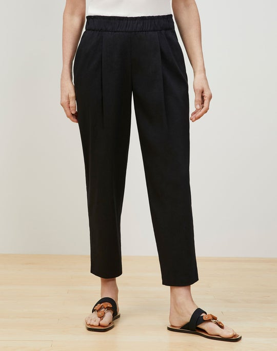 Plus-Size Ashland Cropped Pant In Aria Linen