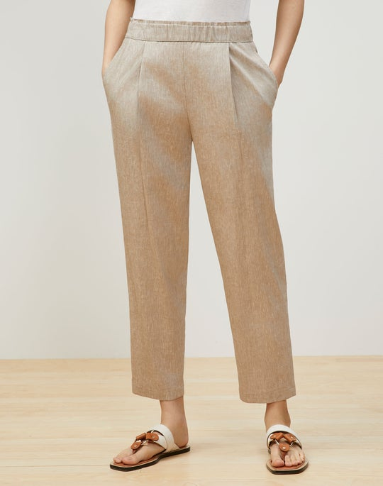 Ashland Cropped Pant In Aria Linen