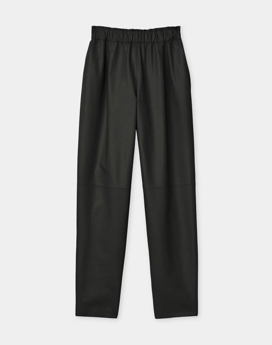 Ashland Ankle Pant In Tissue Weight Lambskin Leather