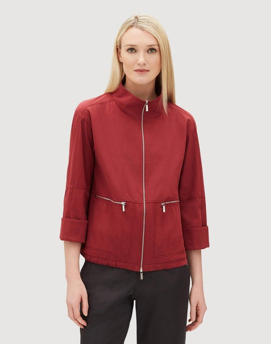 Italian Bi-Stretch Pima Cotton Kellen Jacket