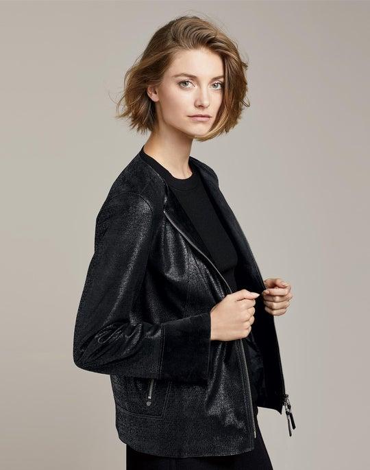 Leather Anasophia Jacket and Tula Mini Skirt
