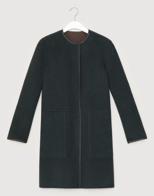 Plus-Size Two-Tone Double-Face Reversible Kierra Jacket