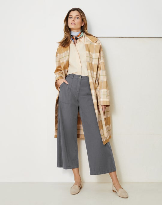 Vincenza Trench Coat and Cropped Fulton Wide-Leg Pant