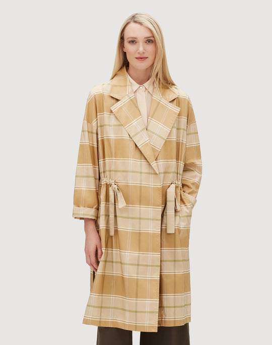 Seaport Silk Vincenza Trench Coat