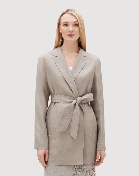 Plus-Size Metropolis Linen Demarius Jacket