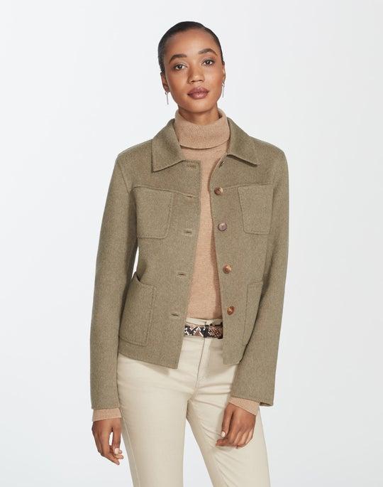 Petite Two-Tone Double-Face Tomasa Jacket
