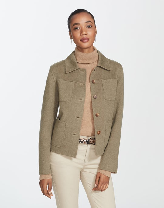 Petite Two-Tone Double-Face Tomasa Jacket