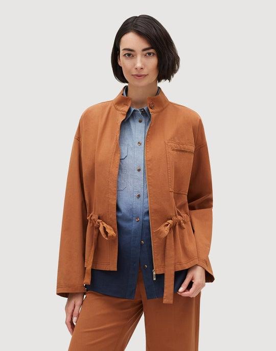 Plus-Size Italian Bi-Stretch Pima Cotton Jessa Jacket