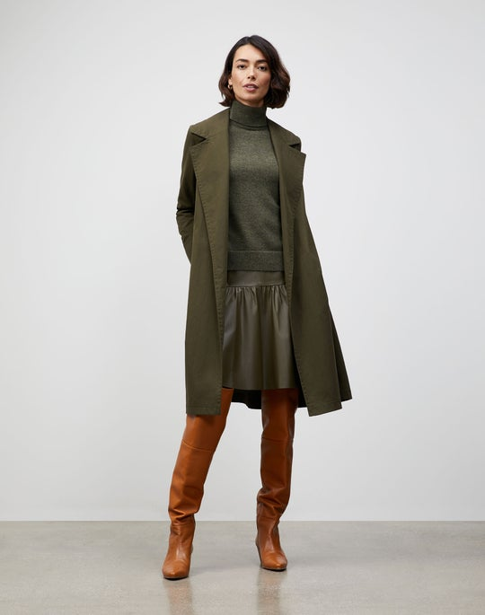 Italian Sueded Cotton Mayfair Trench