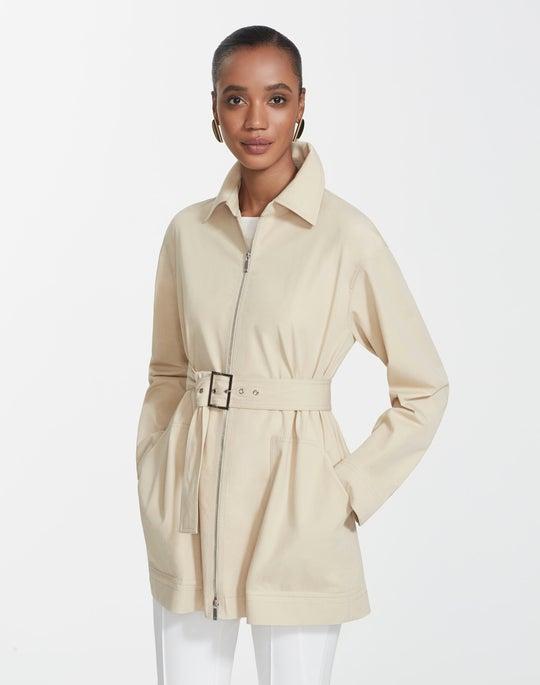 Plus-Size Italian Bi-Stretch Pima Cotton Allegra Jacket
