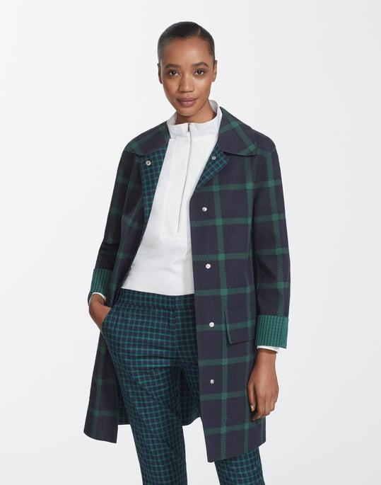 Plus-Size Crossroad Cotton Plaid Mckinleigh Coat