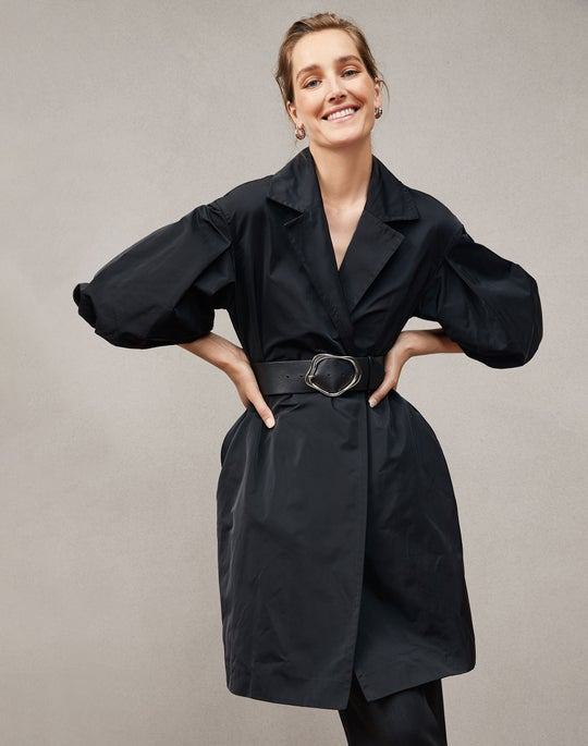 Rosa Coat and Roosevelt Wide Pant