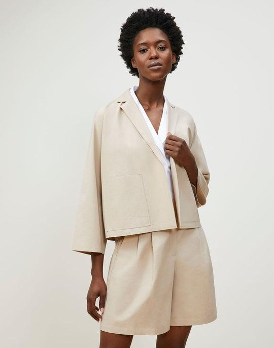 Delphi Jacket In Tactile Italian Cotton