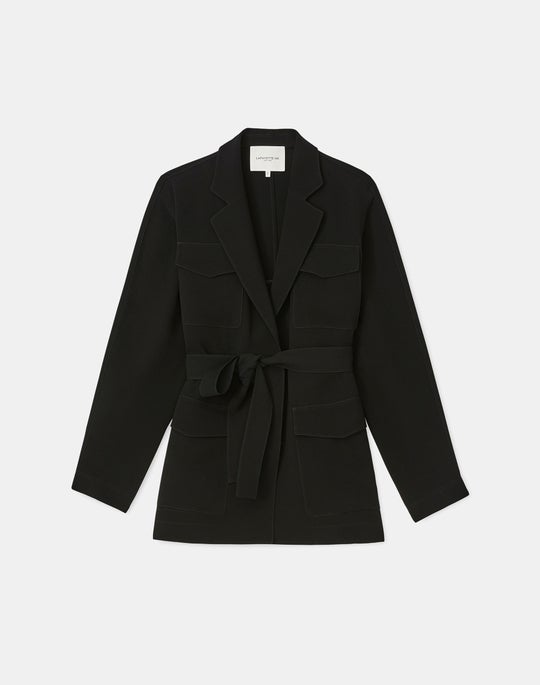 Weston Shirt Jacket In Finesse Crepe