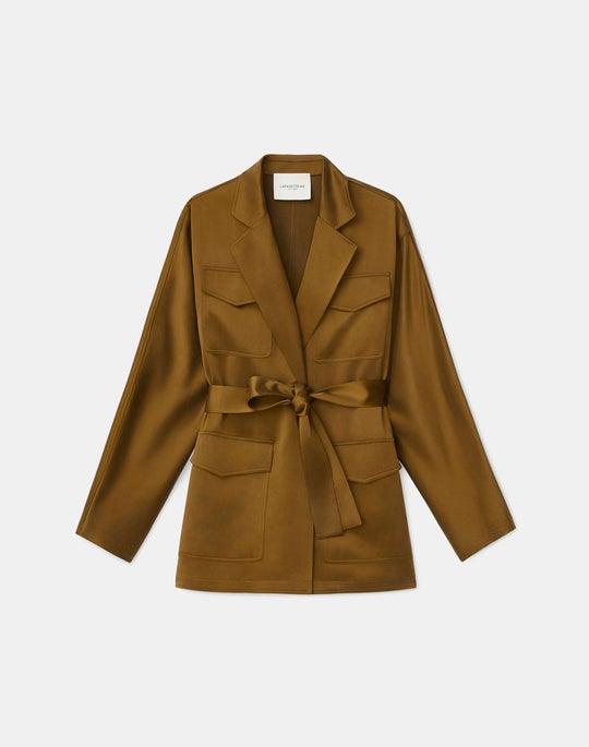 Weston Shirt Jacket In Artistry Silk