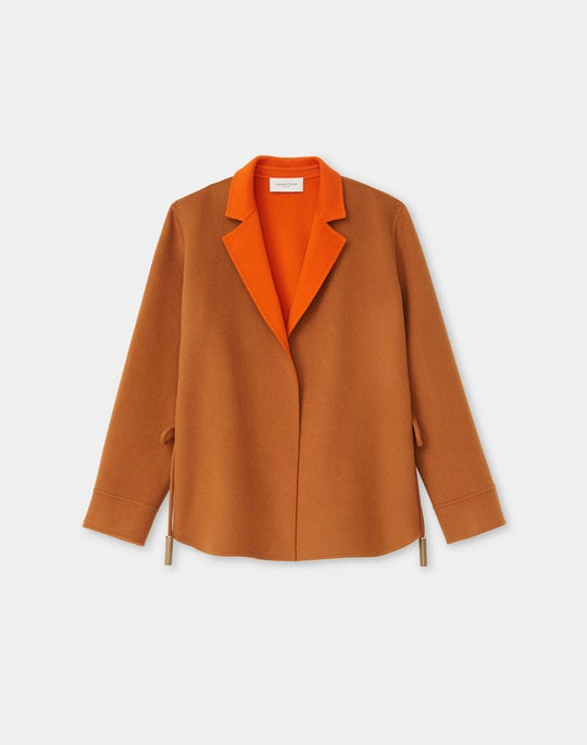 Lawson Reversible Jacket In Two-Tone Wool-Cashmere Double Face