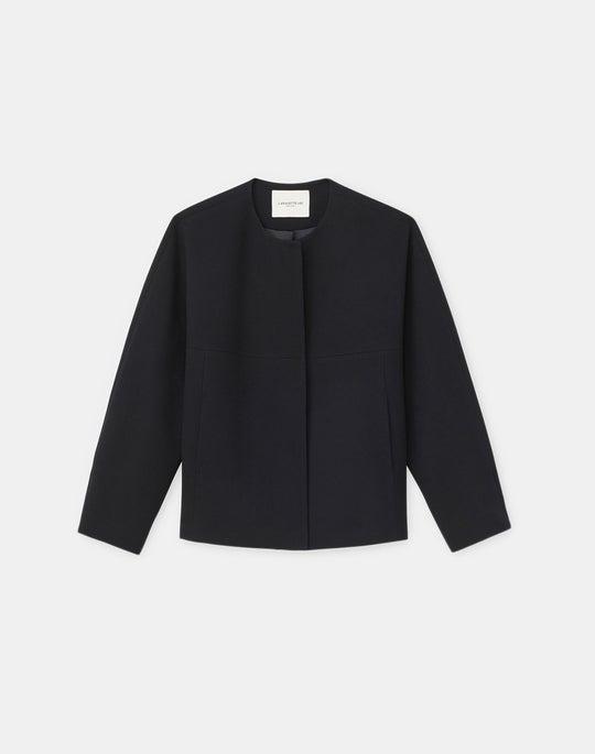 Plus-Size Lewis Jacket In KindWool Nouveau Crepe