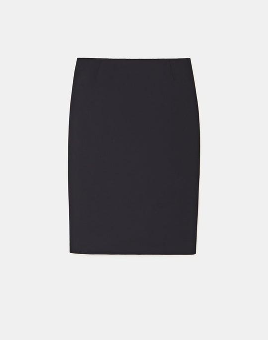 Petite Italian Stretch Wool Pencil Skirt