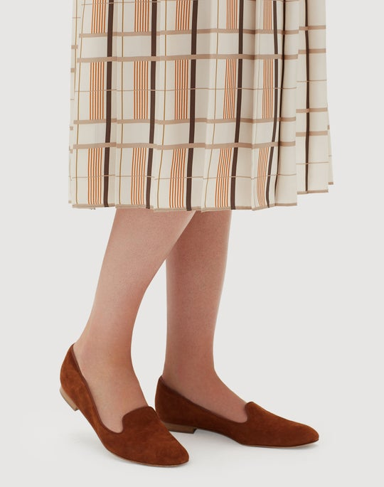 Savvy Plaid Silk Ilaria Skirt