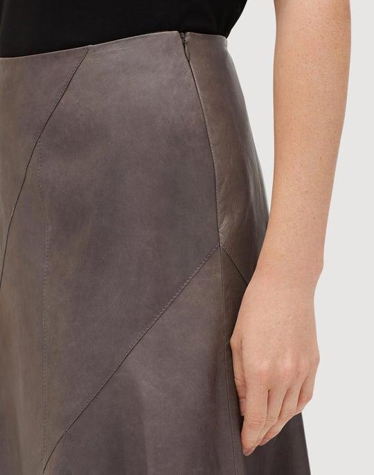 Glazed Weightless Lambskin Roma Skirt