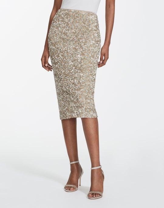 Mélange Metallic Sequins Casey Skirt