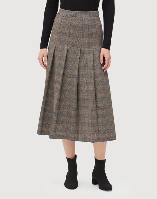 Eloquent Plaid Marya Skirt