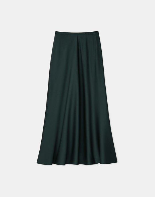 Petite Nelya Skirt In Pebbled Satin