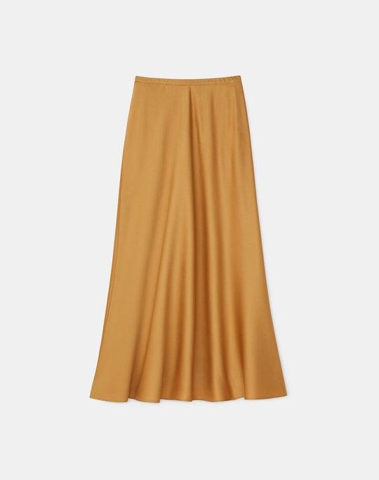 Plus-Size Nelya Skirt In Pebbled Satin