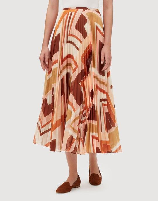 Modernist Chevron Georgette Jahira Skirt