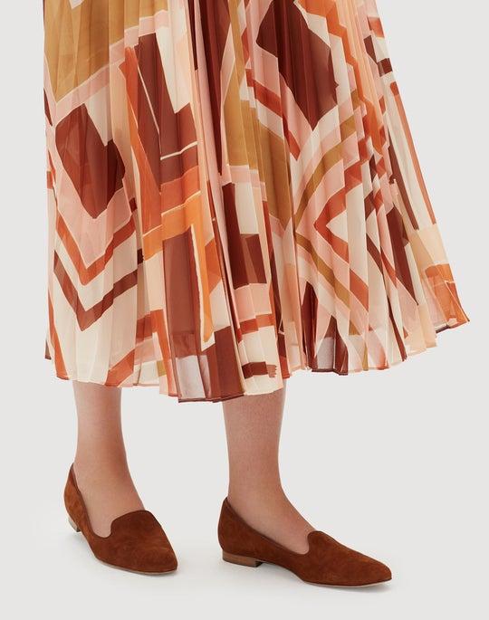 Petite Modernist Chevron Georgette Jahira Skirt