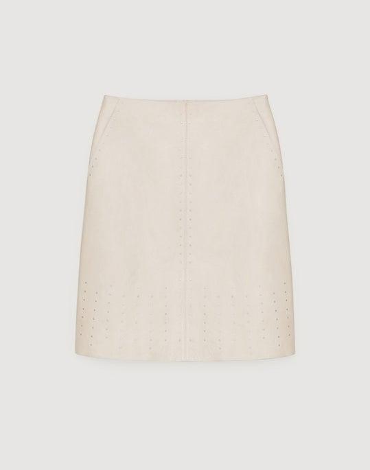 Glazed Weightless Lambskin Whitley Skirt