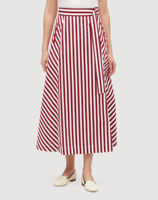 Petite Strada Stripe Cotton Nimah Skirt