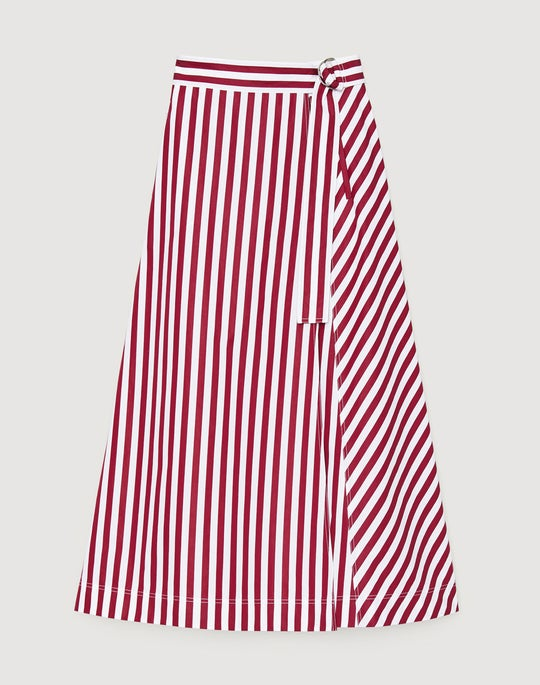Strada Stripe Cotton Nimah Skirt