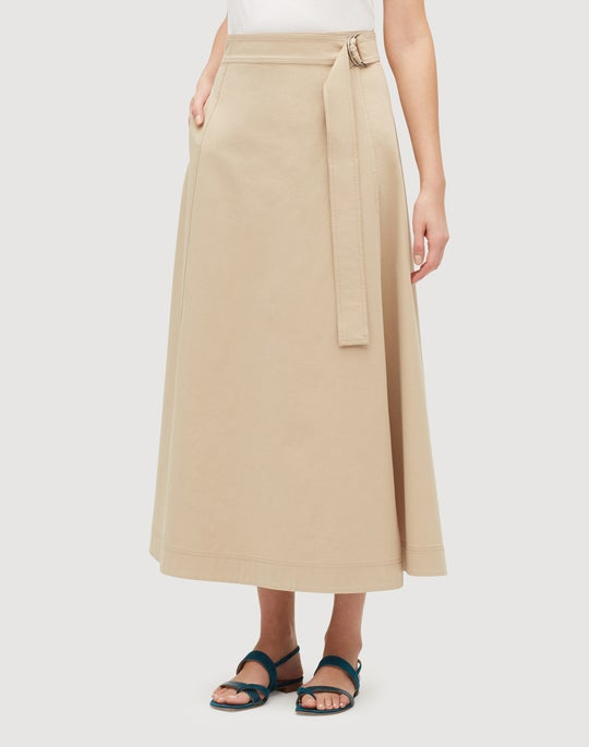 Italian Bi-Stretch Pima Cotton Nimah Skirt