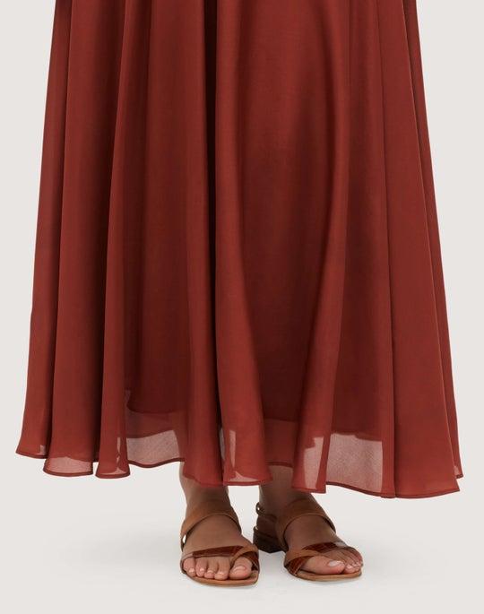 Diaphanous Silk Habutai Ambria Skirt