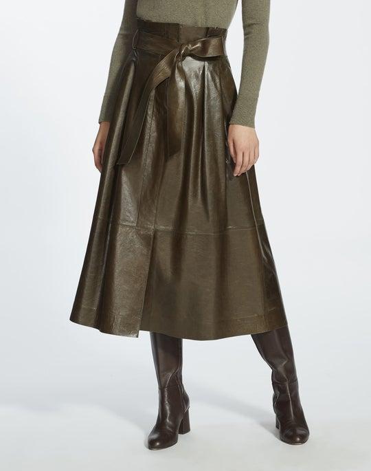 Lacquered Lambskin Cass Skirt