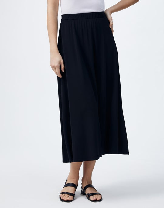 Plus-Size Midweight Matte Jersey Guthrie Skirt
