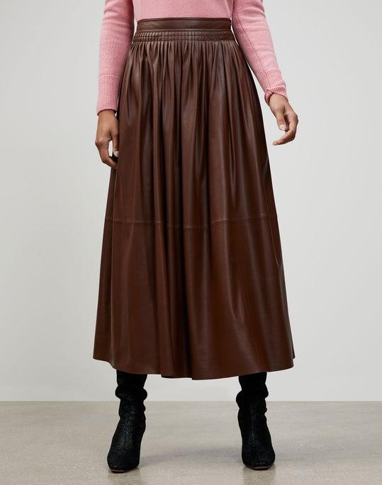 Lightweight Plonge Lambskin Lyons Skirt