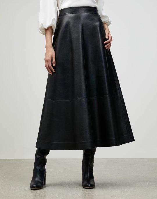 Plus-Size Italian Plonge Lambskin Sumner Skirt