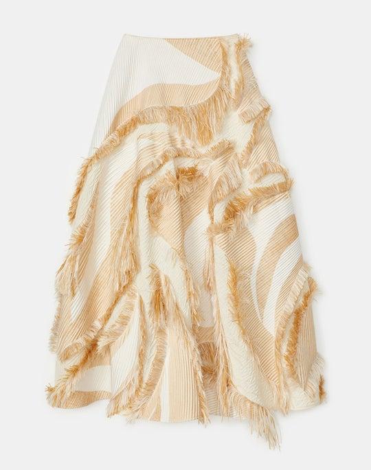 Helena Skirt In Italian Eyelash Jacquard