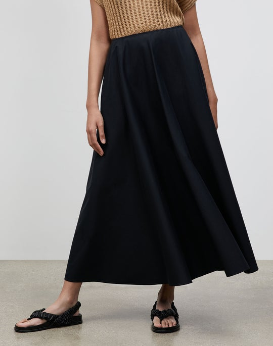 Plus-Size Helena Skirt In Classic Stretch Cotton