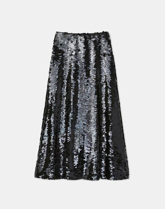 Mulvey Fish Scale Sequin Skirt