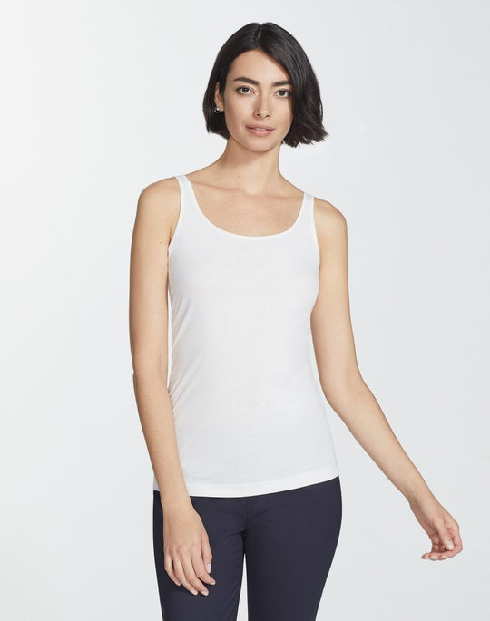 Plus-Size Lightweight Cotton Rib Modern Tank