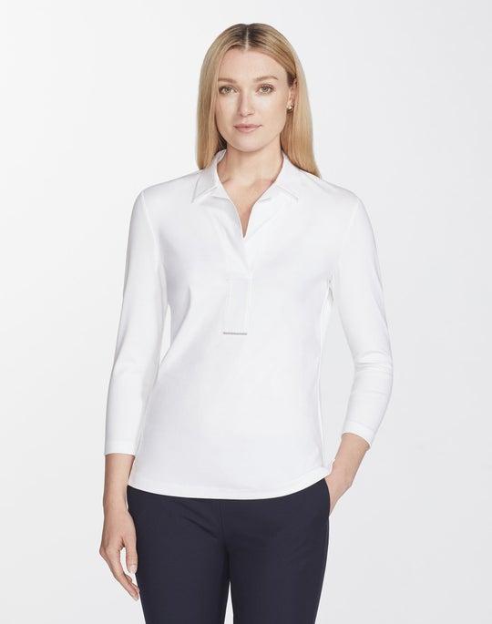 Swiss Cotton Rib Magda Top
