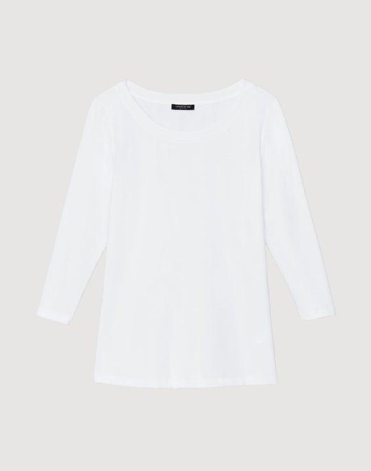 Plus-Size Swiss Cotton Rib Steffie Top
