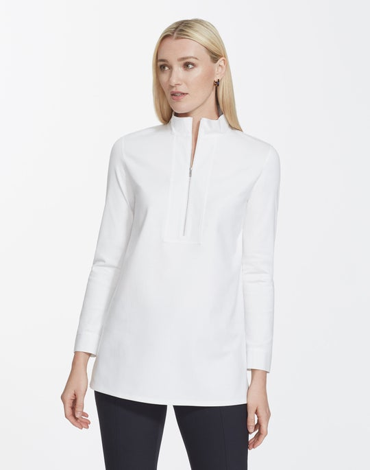 Swiss Cotton Rib Forest Top