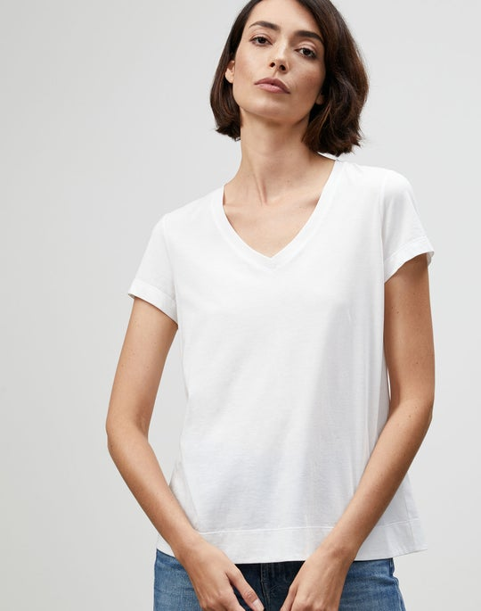 Plus-Size Modern Cotton Jersey Modern V-Neck Tee