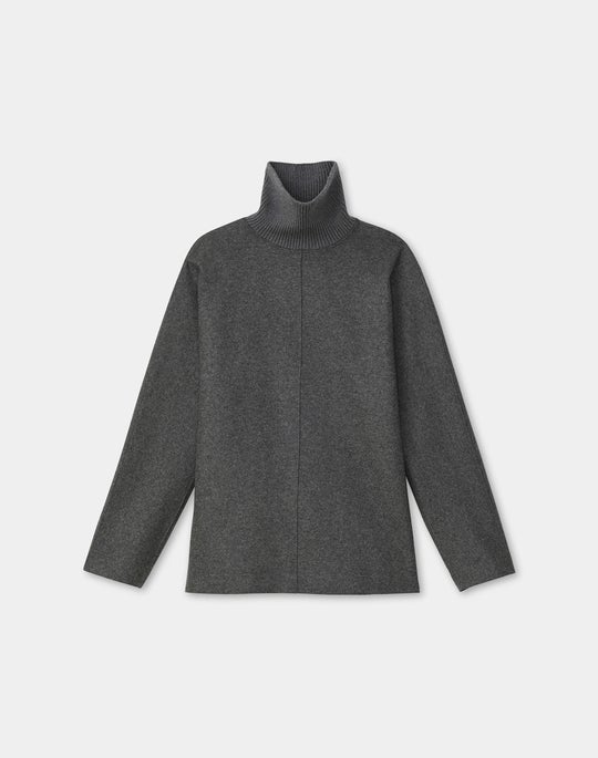 Whitaker Reversible Top In Italian Double Face Wool-Cashmere