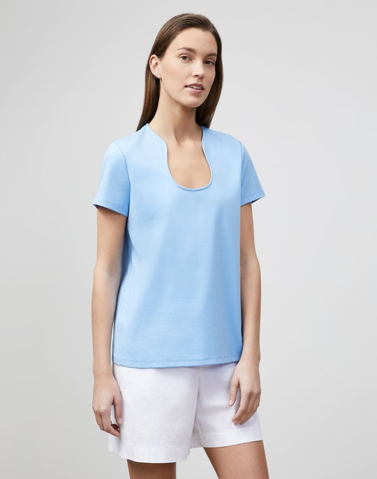Eden T-Shirt In Swiss Cotton Rib