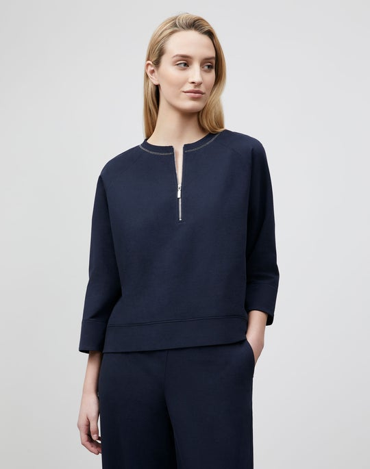 Plus-Size Powers Sweatshirt In Ultra Comfort French Terry